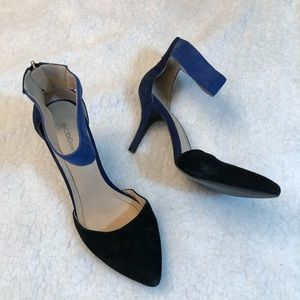 BCBGENERATION Ankle Strap Two Tone Leather Heels 7